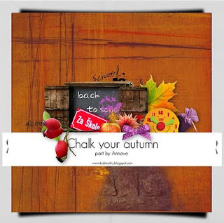 Chalk Your Autmn Collab Kit Elements by Annave