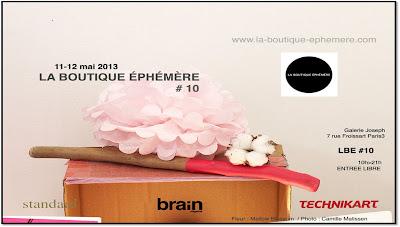 Boutique éphémère 10, Paris rue Froissart thème mariage 2013