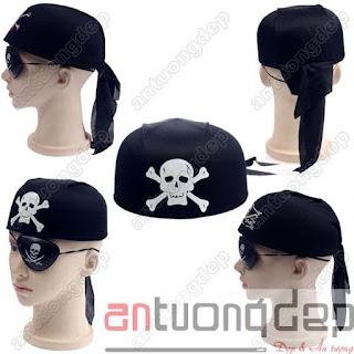 bán nón cướp biển hình tròn