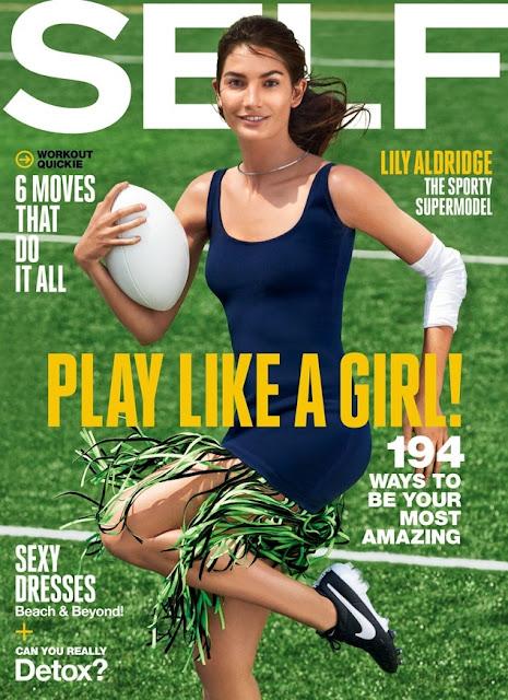 Actress, Model @ Lily Aldridge for Self Magazine July 2015
