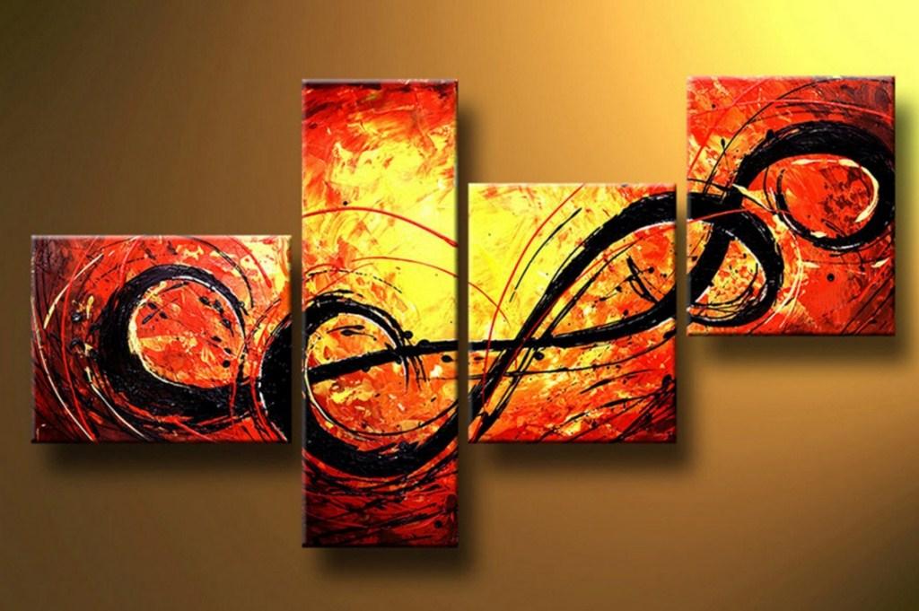 Im genes arte pinturas abstractos cuadros decorativos - Cuadros para principiantes ...