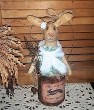 SPRING BLESSINGS BUNNY IN RUSTY CAN