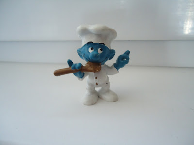 Chef with Spoon Smurf Peyo Schleich W.Germany 2.0042 Schtroumpfe