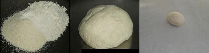 knead the dough to make karanji