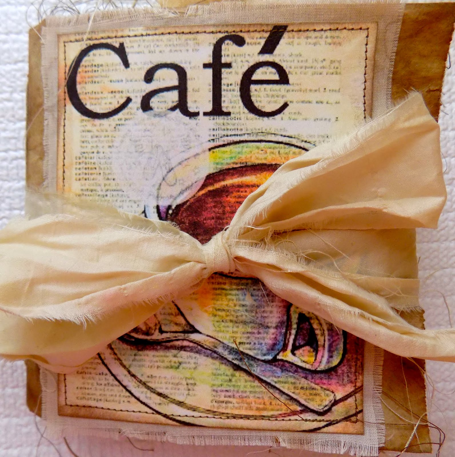 FOR SALE: Cafe' Lunch Bag Journal