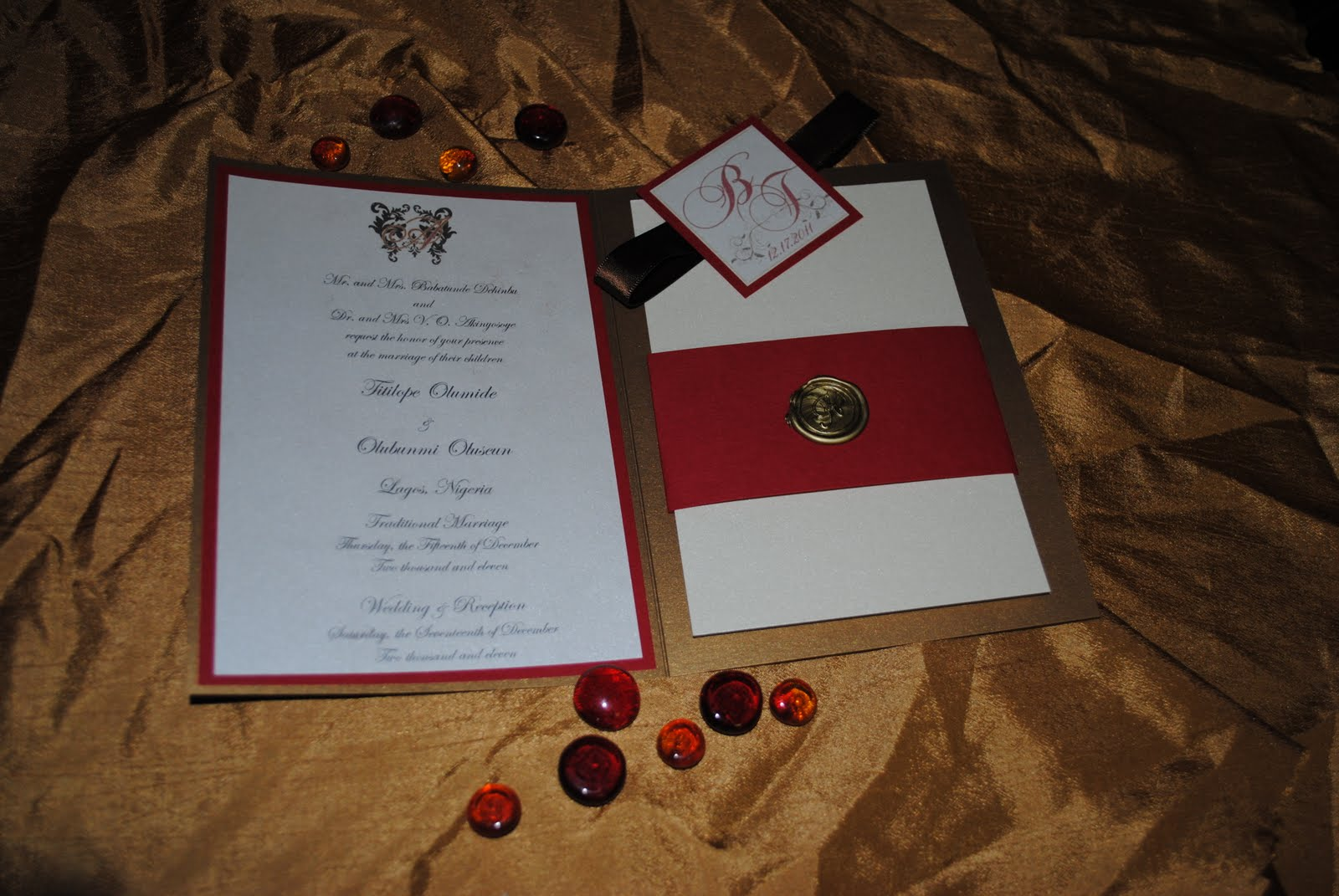 Wedding Invitations: Red, Canary Yellow, Gold! | Royal Events and ...