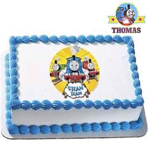 Edible Thomas Cake Decoration : Kids cake cartoon characters Thomas and friends cake ...