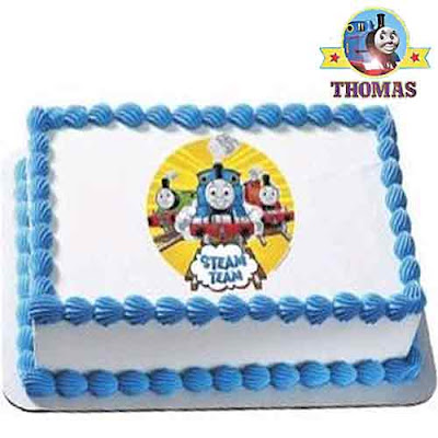 Toddlers Birthday Thomas the train edible cake decoration topper transfer sheet cartoon picture kit
