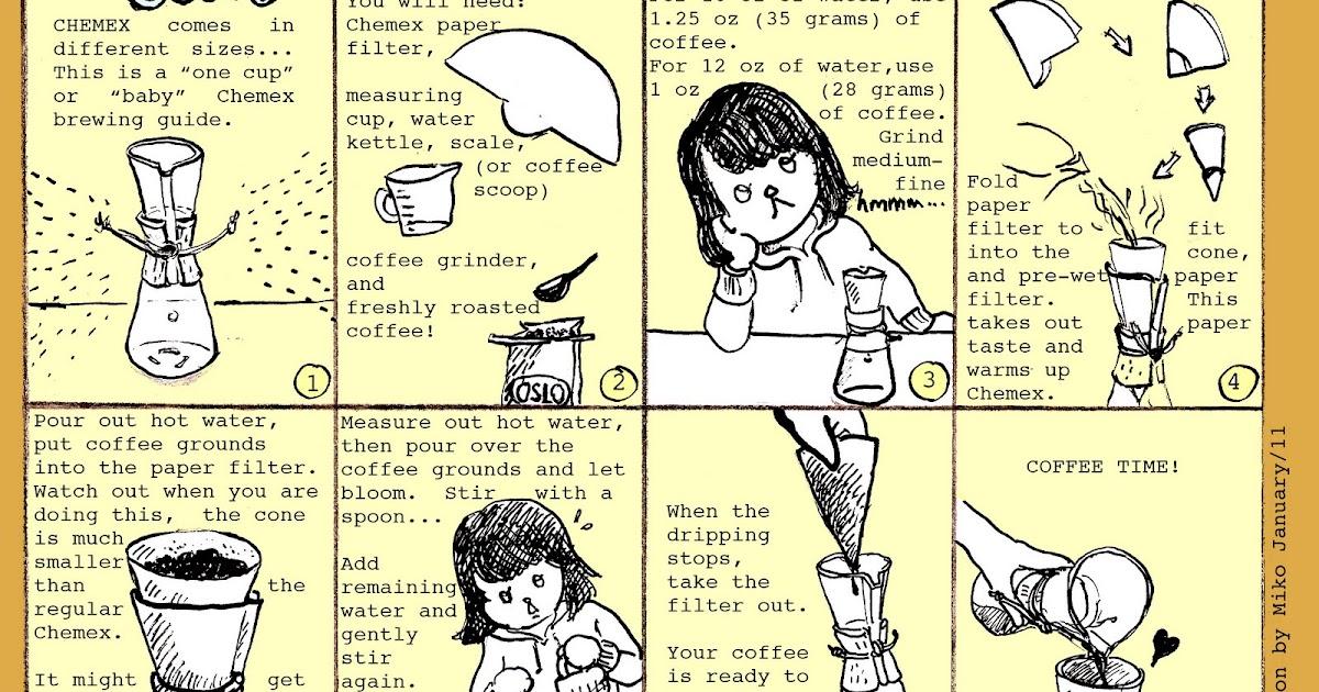 Baby Chemex Coffee Brewing Instruction