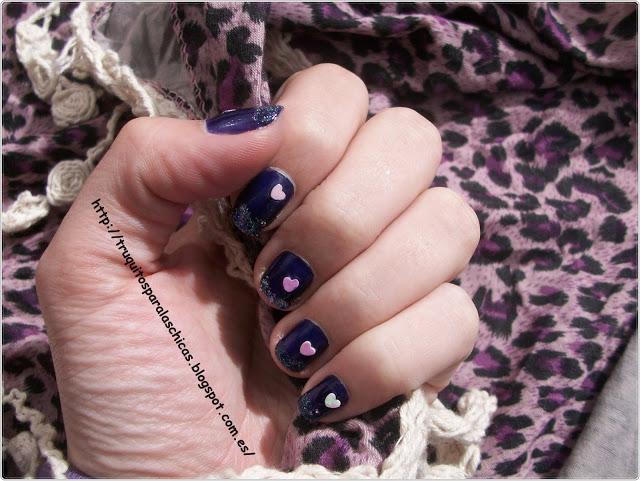 manicura francesa brillantina