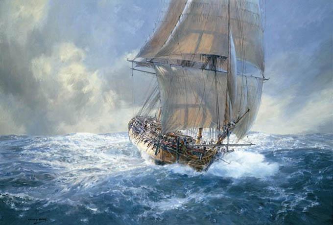 John Allcot Artist Oranje Ship Painting