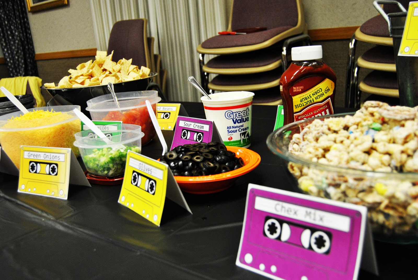 Pics for 80s party food for 90 s decoration ideas