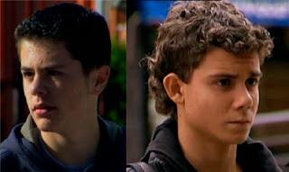 Hijo de Elo y Pope en El Comisario, serie Telecinco, Kevin