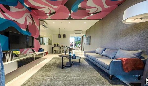 Living room at Signature At Yishun