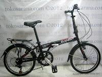 Sepeda Lipat Element Virus Rangka Aloi 20 Inci