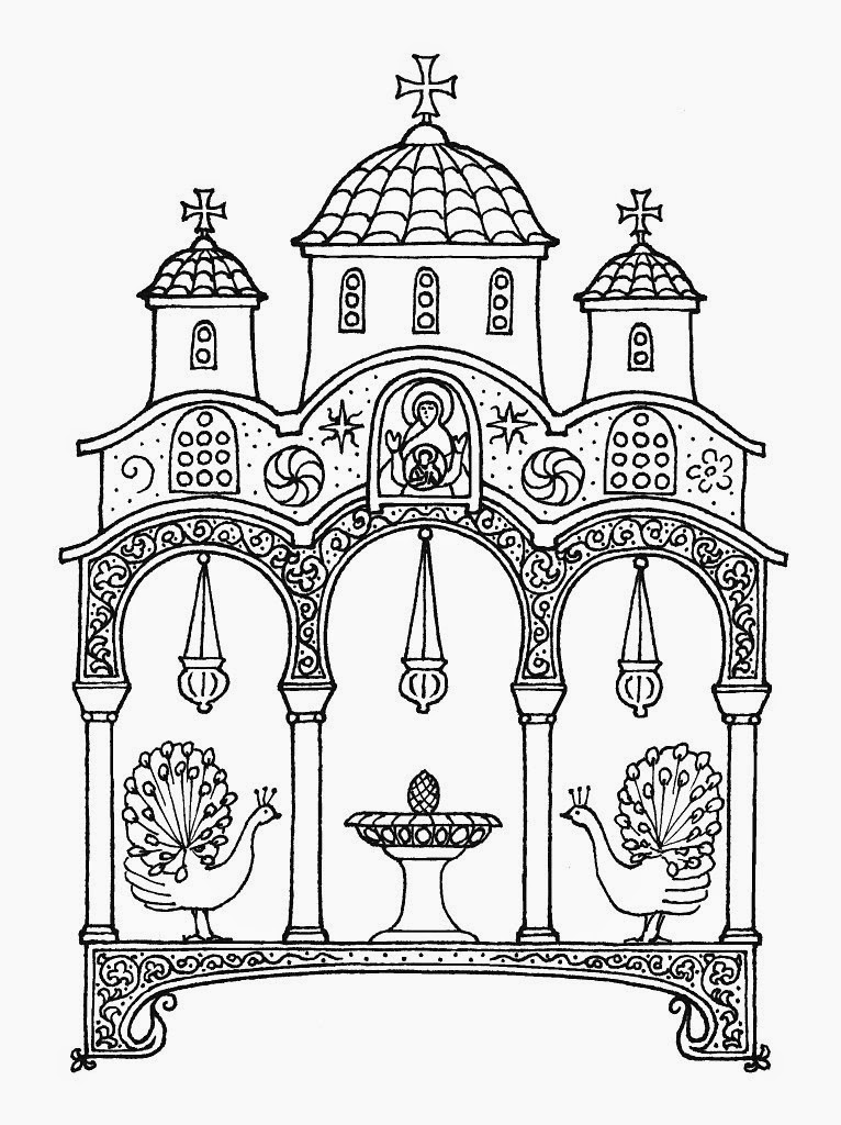 Line Drawing Icons : Orthodox christian education new coloring icons