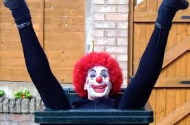clown in bin