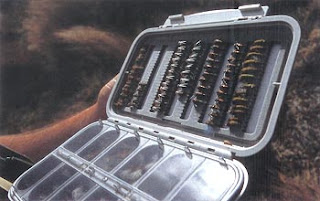 The perfect summertime tandem-rig fly box features plenty of big attractor drys and various nymph patterns of different weights. With this fly selection, you can cover a lot of water. Sandy Hays photo