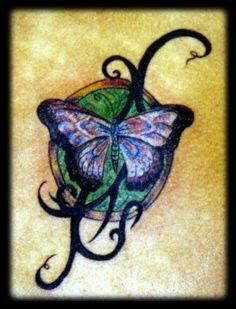 Butterfly tattoos have been among one of the most popular tattoo designs that have been requested for woman over the past years. Butterfly tattoos hold a unique fascination with the human race and have always been subject to artistic expression whether it's in music, tattoos, paintings, etc. With its vivid colors, striking lines, and distinctiveness, most people can't disagree with the beauty of a butterfly.