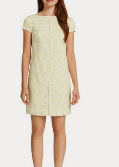 Cynthia Steffe Meena Cap Sleeve Printed Shift Dress