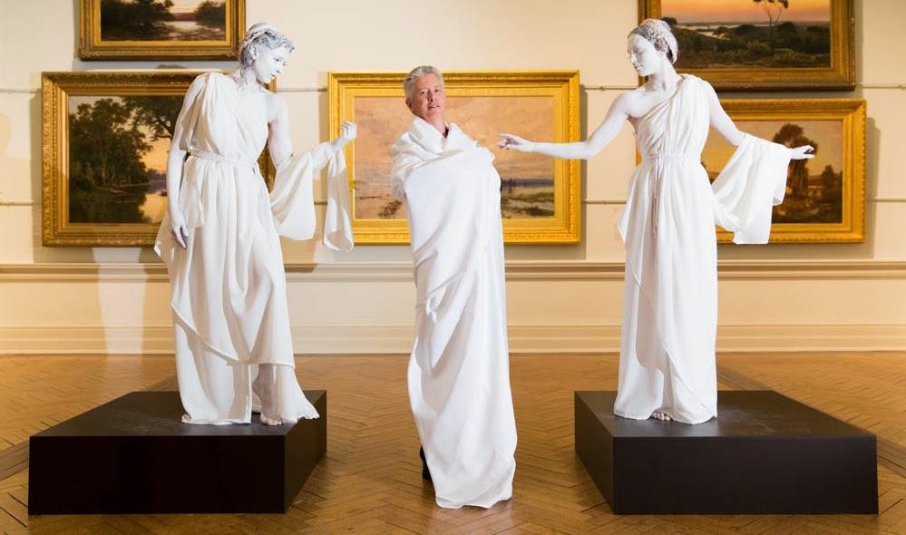 Body painting for Mythology Living Statues - Bodyartist