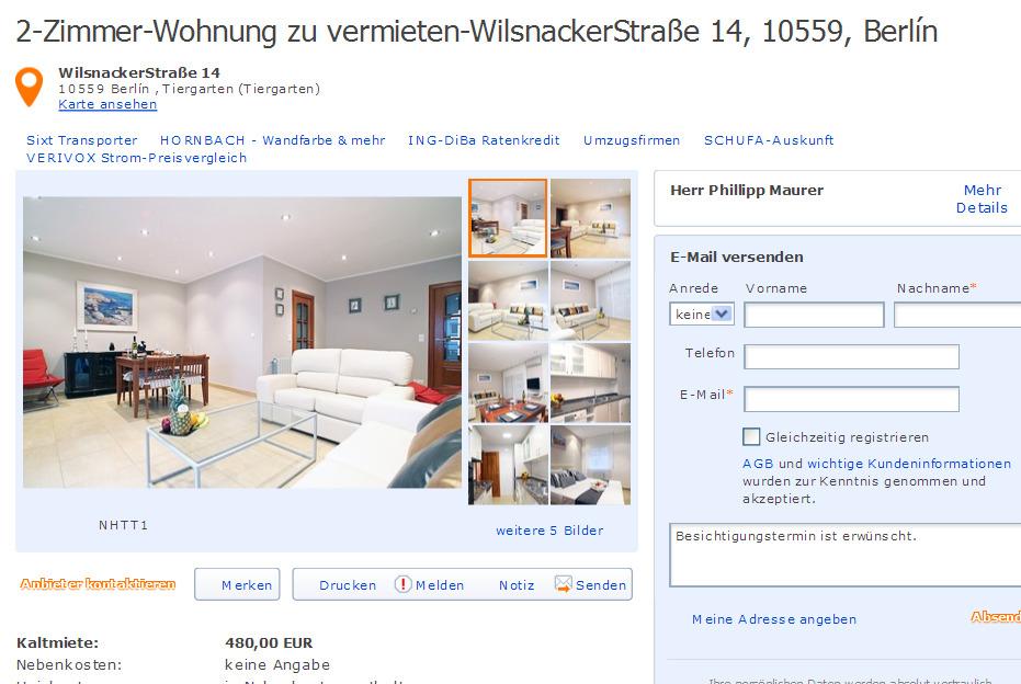 Auf dem loh 18 30167 hannover gegen wohnungsbetrug for Zimmer hannover