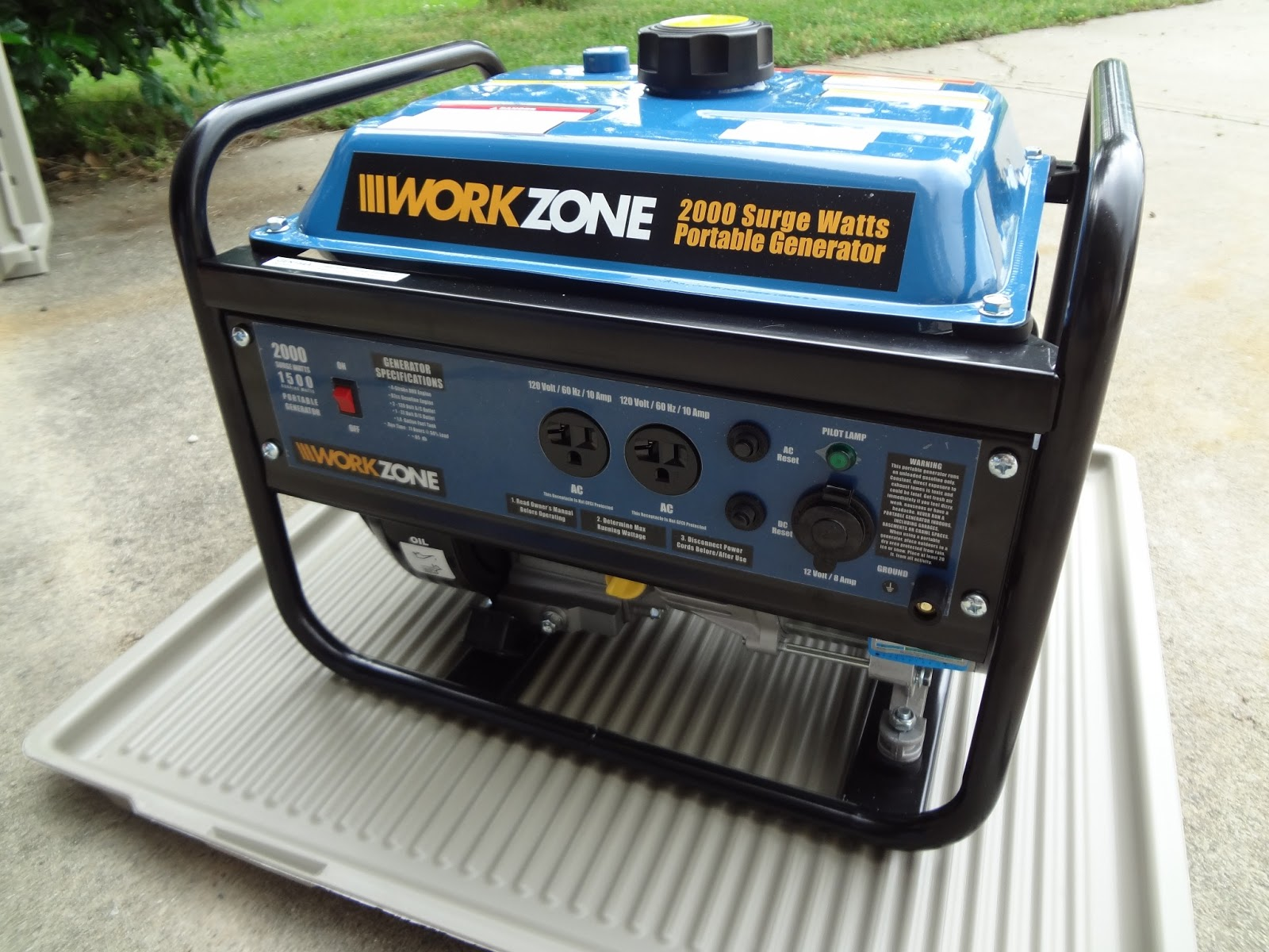 Home 2000 Watt Gasoline Power Generator Review and Test Home