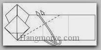 Bước 11: Gấp lộn ngược lớp giấy lên trên.