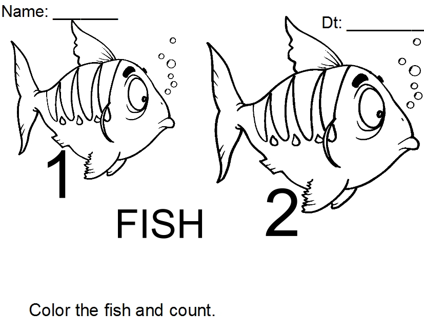 Leo Lionni Coloring Pages Color The Fish And Count