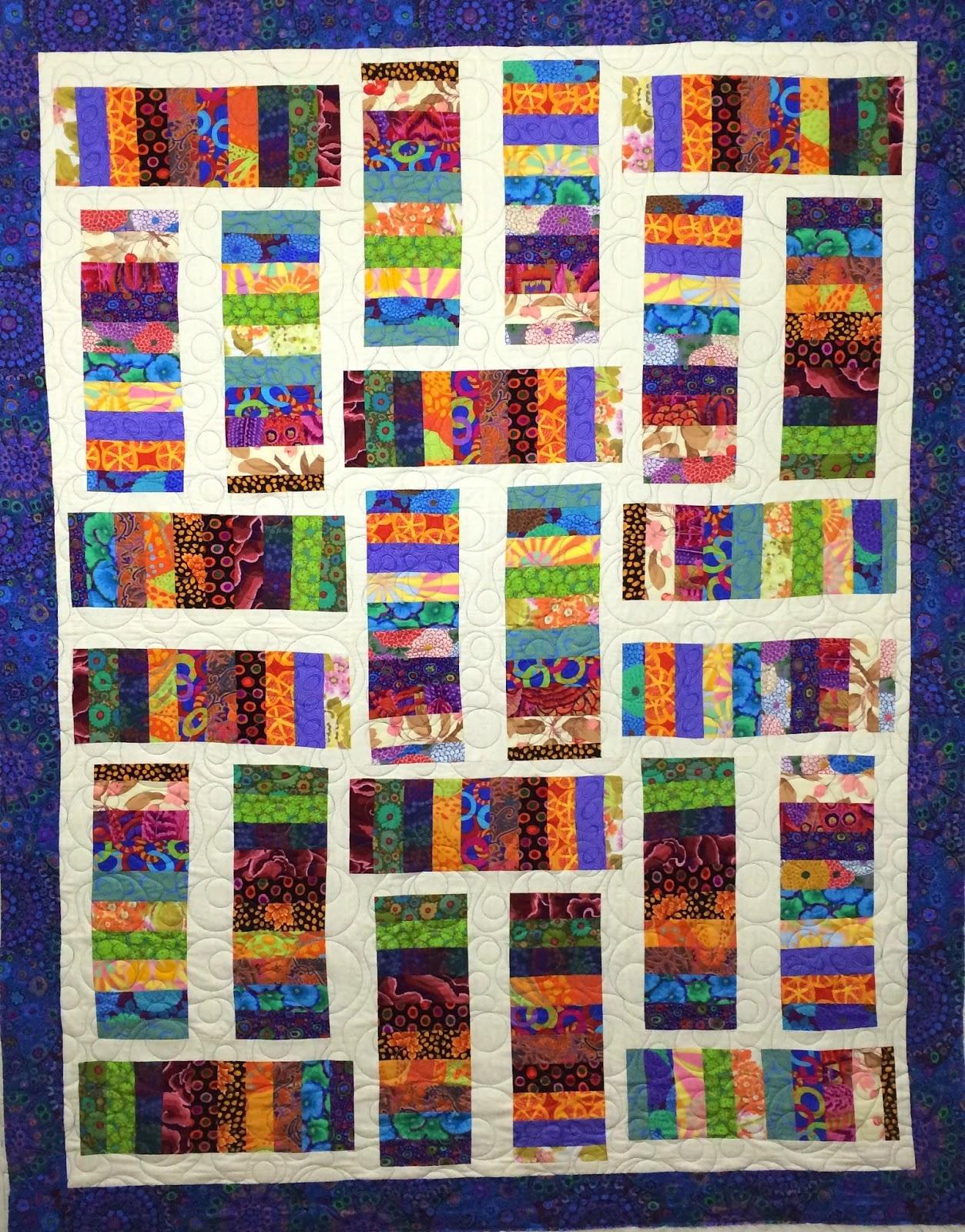 Stella Siwinski's Kaffe Fasset Colorful Fabrics Quilt