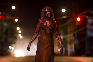 Carrie 2013 Chlow Moretz in blood movie still