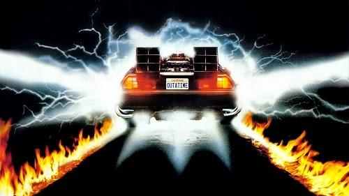 Aqui tem uma imagem do DeLorean do 'De Volta para o Futuro'
