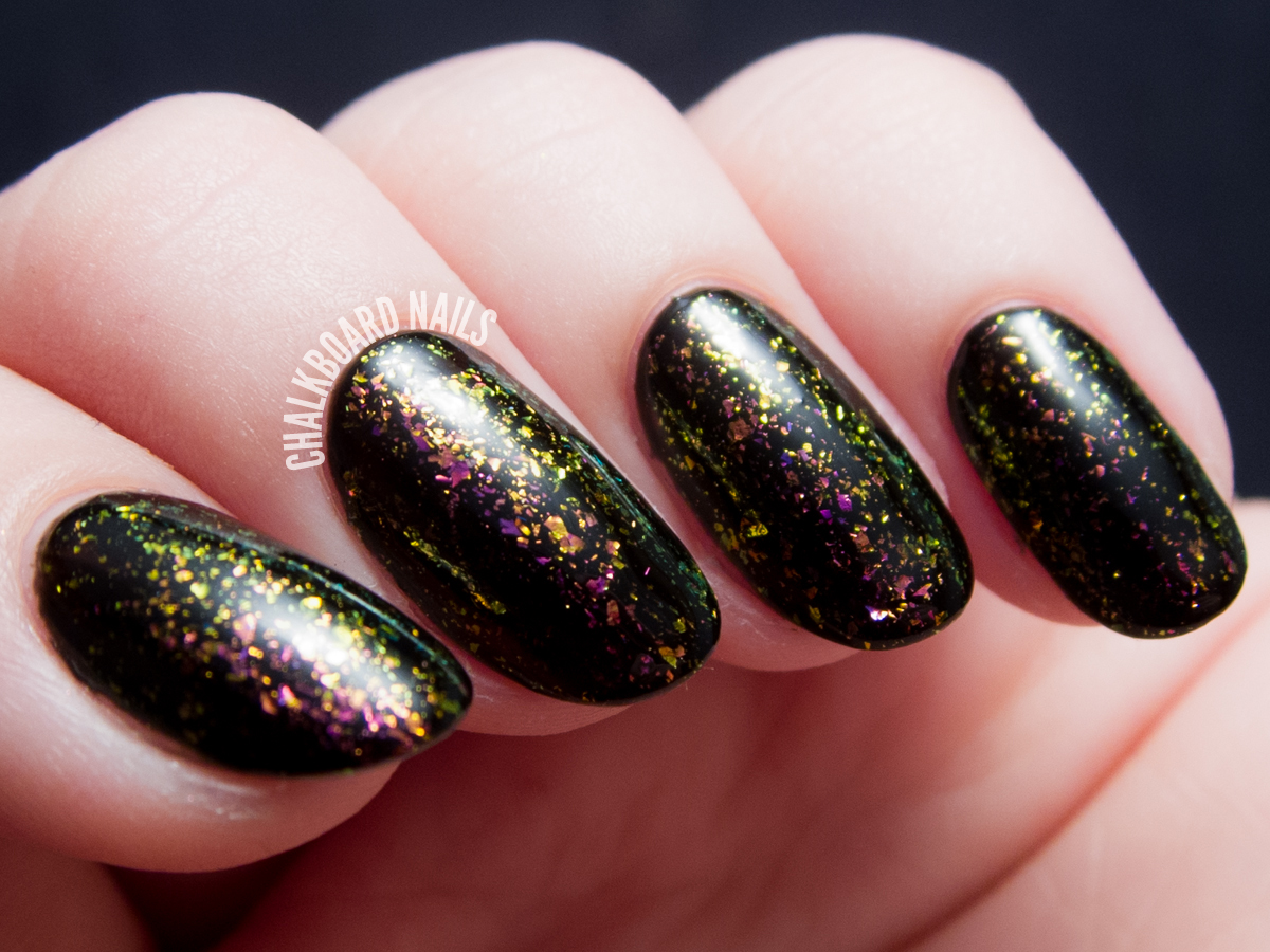 I Love Nail Polish - Electric Carnival via @chalkboardnails