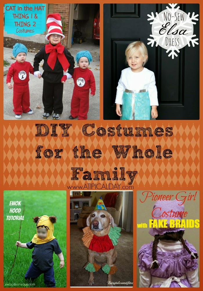DIY Costumes for the Whole Family @ATIPicalDay #halloween #DIY #Costumes #Roundup