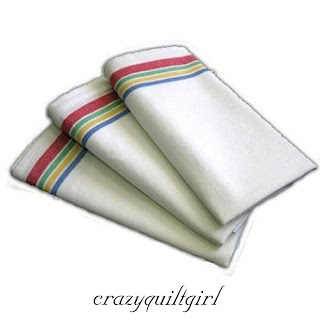 Aunt Martha's Vintage Style Multi Stripe Kitchen Dish Tea Towels Set