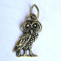 Купить бронзовый латунный кулон подвеску в виде совы украшения симферополь