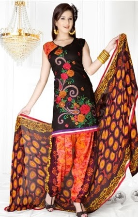 Best Embroidery Patiala Dresses