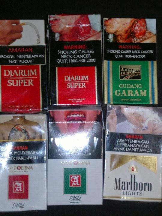 Gambar Seram di Bungkus Rokok