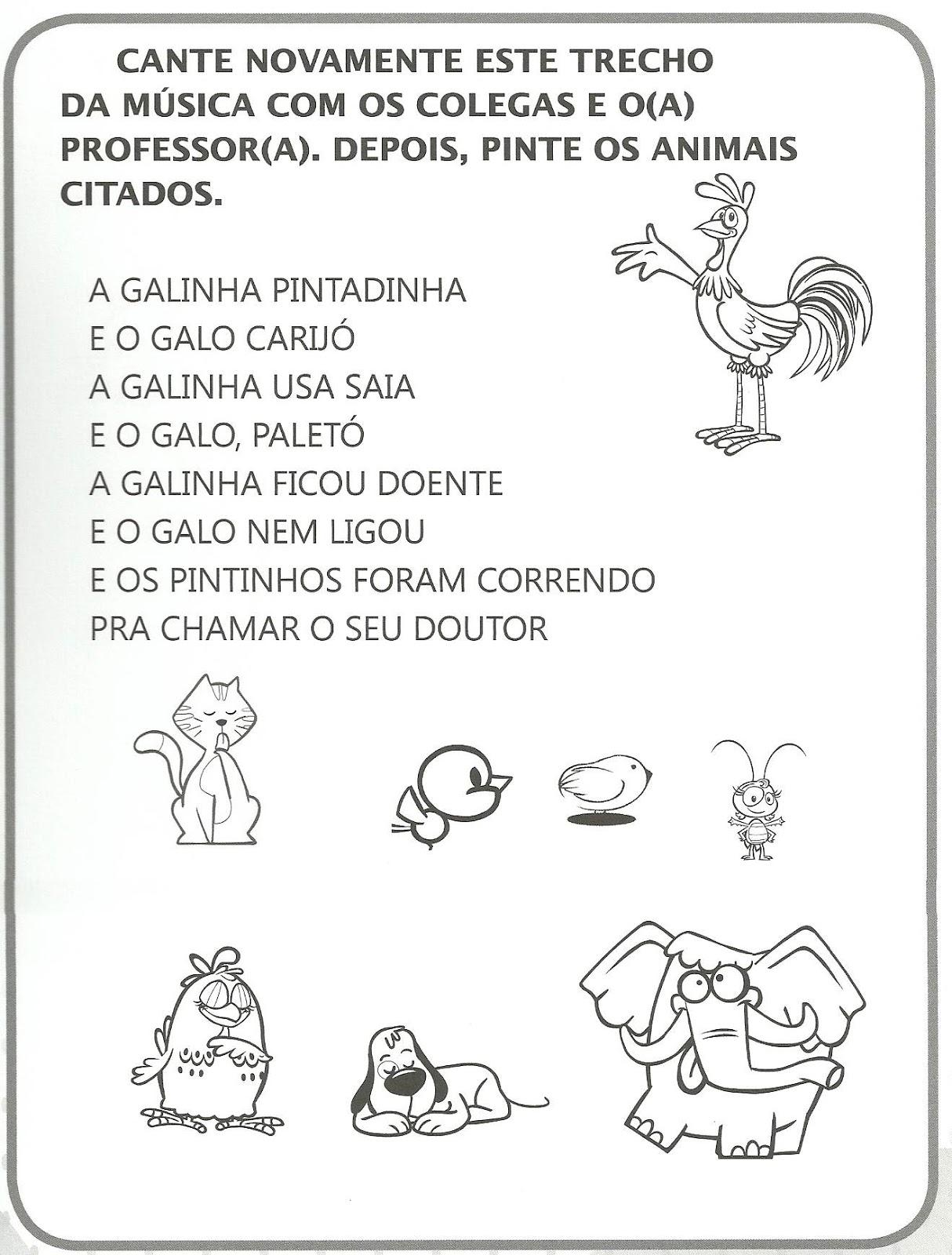 Well-known Atividades Galinha Pintadinha | Cantinho do Educador Infantil OO69