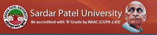Sardar Patel University BA, BCom, BSc, BCA, BSW, BEd UG, PG 2014 Results