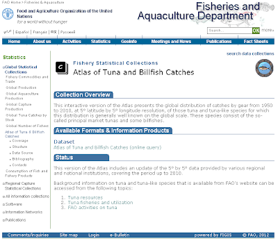 Atlas of Tuna and Billfish catches website