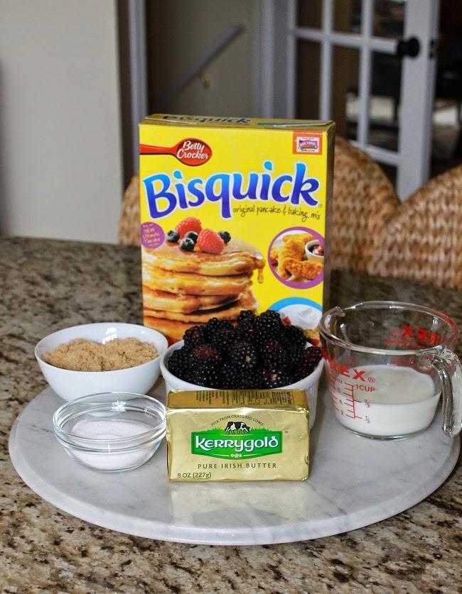 blackberry shortcake, bisquick