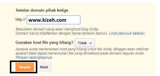 Cara mengubah domain blogspot ke domain TLD