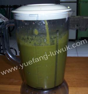 green smoothie setelah blender