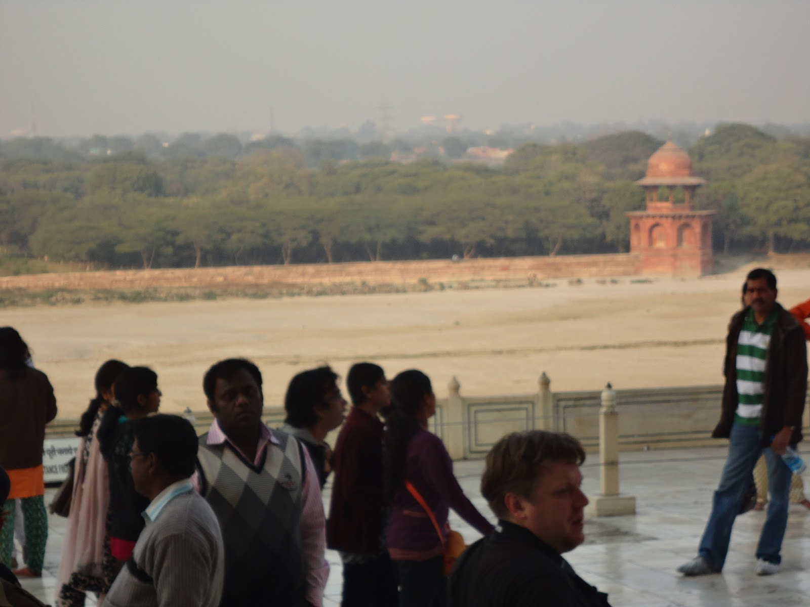 River Yamuna at the back of The Taj