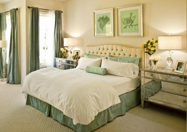 Beige Mint Green Bedroom