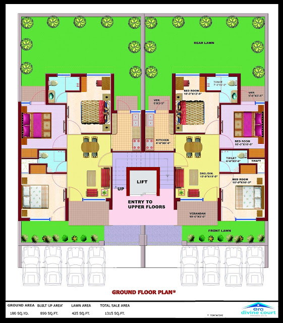 ERA Divine Court Floor Plan 2 BHK