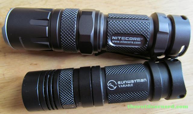 Nitecore SRT3 Defender And Sunwayman V11R Side By Side
