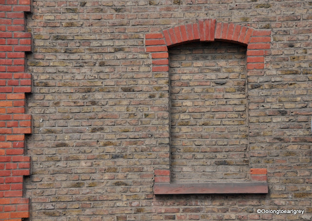 Bricked in window, Frankfurt, Germany