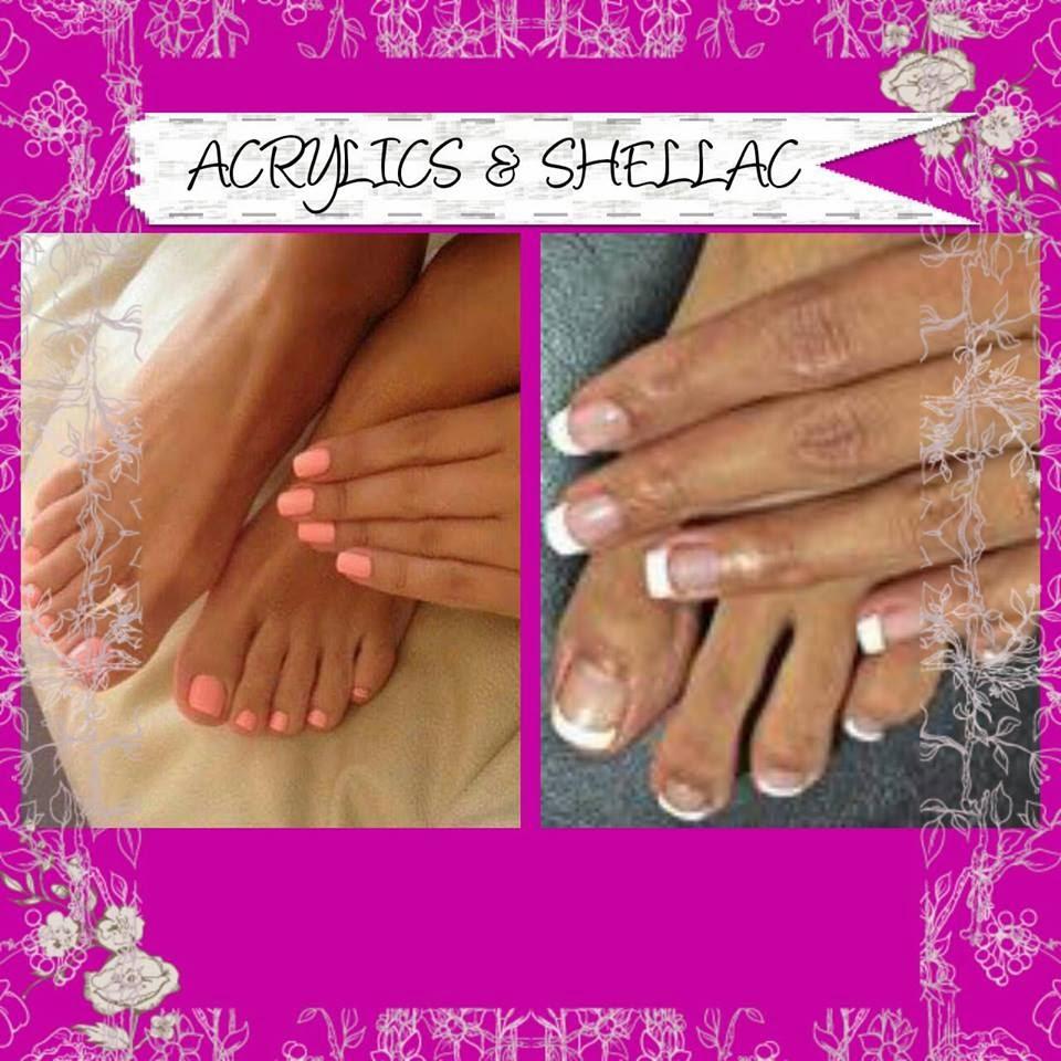 Acrylic Shellac manicure polish natural nail